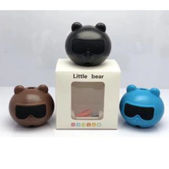 Wireless Bluetooth ABS Mini Speaker Outdoor Portable Subwoofer Sound With Mic TF black 3w little bear