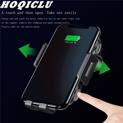 HOQICLU Wireless charge car mount range sensor automatic holder ABS Shell black one size