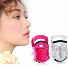 Mini Eyelash Curler Curling Clip Easy Carry Beauty Tool Lash Curler Nature Curl Stylish transparent pink