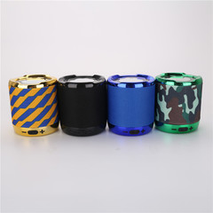 Wireless Bluetooth cylinder ABS Mini Speaker Outdoor Portable Subwoofer Sound  With Mic TF black 3w spk02