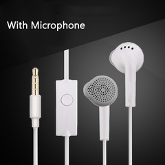 3.5 Jack In Ear Stereo Earphone Wired with Microphone For Android Phone SAMSUNG HUAWEI XIAOMI white