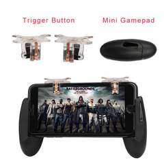 Game Controller Mobile Phone Gamepad Accessories Game Trigger Fire Button For PUBG Iphone Android handle+button one size