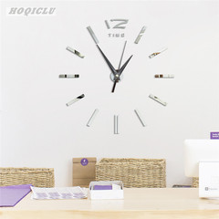 Creative DIY 3D Wall Clock  Free Size Living Room Fashion Wall Clock 12 Inches black one size
