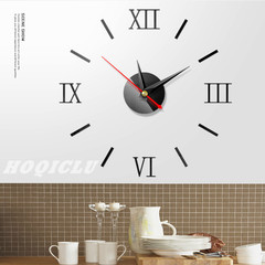 Diy Acrylic Mirror Wall Clock 3D Small Watch Still Life Clocks Home Decoration Stickers 12 Inches black one size