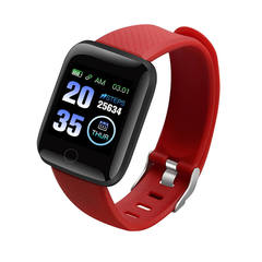 HOQICLU Smartwatch Watches 116 plus Sport  IP67 Waterproof For IOS Android iPhone Samsung Infinix red one size