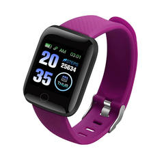 HOQICLU Smartwatch Watches 116 plus Sport  IP67 Waterproof For IOS Android iPhone Samsung Infinix purple one size