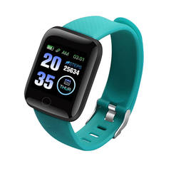 HOQICLU Smartwatch Watches 116 plus Sport  IP67 Waterproof For IOS Android iPhone Samsung Infinix green one size