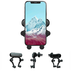 High Quality Universal Car Air Vent Phone Holder New Design Gravity Car Mount For Smartphone red one size