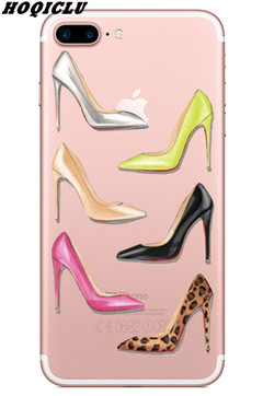 Phone Case Cover  High-heeled Shoes Slim Soft Silicone TPU Case for IPhone 5/6/7/8/Plus 01 iphone 5/5s/5c