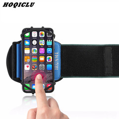 Sports Armband for IPhone Universal Rotatable Wrist Running Band with Key Holder for 4-6 Inch Phone blue