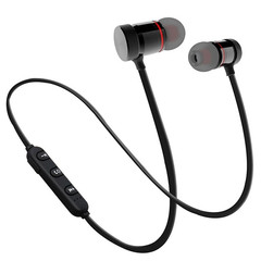 Wireless Bluetooth V5.0 Earphones Headphones Accessories Headset For iOS /Android Sport Magnetic black