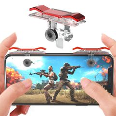 Universal Smart Phone Mobile Gaming Trigger  PUBG Mobile Game Fire Button Controller E9 2pcs/lot -silver one size