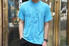 EVA Evangelion AYANAMI REI T shirt Blue Unisex Short Sleeve Free Size Tee blue Free size 100% Polyster