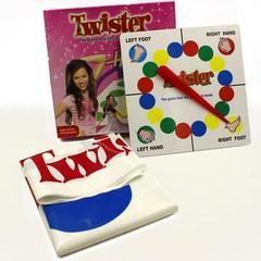Funny Twister The Classic Game With 2 More Moves Hasbro Party Game as pic