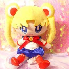 Japan Anime Sailor Moon Chibiusa Plush Backpack Bag Toy Doll Figure Pink 14.6'' yellow 37cmx20cmx20cm (14.6''x7.87''x7.87'')