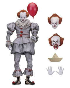 Horror Movie IT Pennywise NECA Clown Figure with Balloon Figurine PVC 7'' as pic 17cm (6.7'')