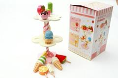 New Mother Garden Strawberry Ice Cream Fruit Stand Wooden Children Kid Toy as pic 16.5 x 16.5cm x 27cm (6.5''x 6.5'' x 10.6'')