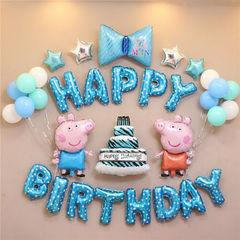 Baby Boy Girl Peppa Pig Celebration Birthday Party Balloons set Helium Filled UK Blue 16''