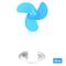 Fashion Folding Fan USB Mini Portable Cooler Cooling Fans Three colours Blue One Size