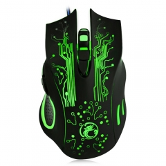 Estone X9 2400DPI LED Optical 6D USB Wired Gaming Mouse Black one size