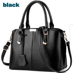 2019 New fashion handbags for women Pure color bags for ladies 8 color black one size