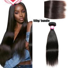 100% human hair 8A brazilian virgin women wigs hair straight long ladies hair Natural black 8 inch