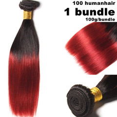 100% human hair omber virgin Black wigs for women Straight long hair  ladies wigs Bright red 10 inch