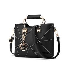 Premium women handbags new fashion bags Shoulder bag PU black High-capacity