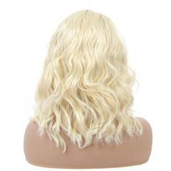Premium Front lace curly hair Synthetic wigs for black women wigs hair long curly wigs ladies hair golden 22 inch