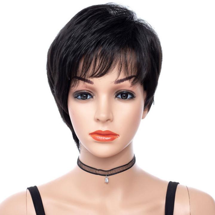 Women wigs hair short black wigs short premium short wigs for ladies 8 inch Black African short hair black 8 inch
