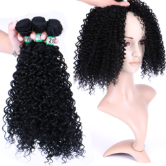 premium Synthetic hair African small rolls Lady long curly hair women wigs hair premium ladies wigs 3 bundles 30 inch