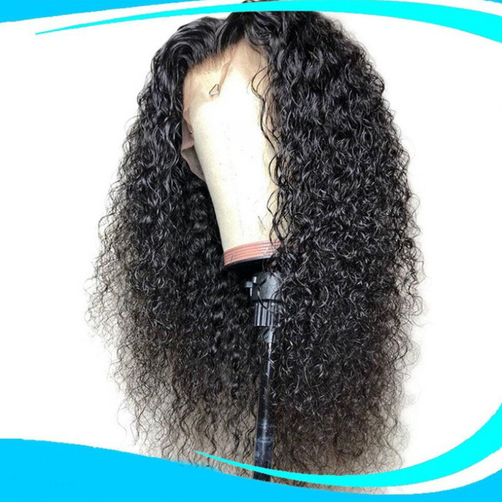Premium lace front wigs curly hair black women synthetic wigs long curly frontals wigs for ladies black 26 inch