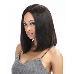 Premium short wigs for women synthetic bob hair short wigs synthetic hair ladies Overall wig black 19 inch (50cm)