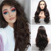 long curly lace front wigs