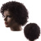 Premium 8 inches short curly human wigs for women wigs human hair curly wigs African roll black 8inches(20cm)