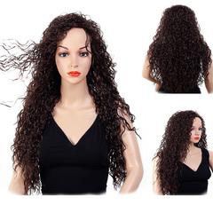 28inches Premium Long Curly Hair Women Wigs Long Curly Hair Party Wigs for Ladies brown 28 inches