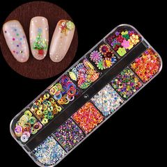 12 styles/box Nail Art Jewelry Nails Accessories Women Personal Care Nail & Tools Girls Nails Arts Colorful world