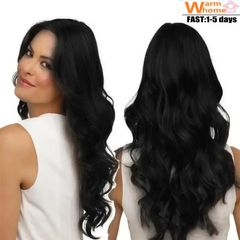 Premium Wigs Curly Long Hair for Women Wigs Hair Wigs Ladies Synthetic Hair for Black Women black 25inch