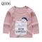 Boy Girl Children's Long Sleeve T-shirt Cotton Round Neck Shoulder Button Cartoon Pictures Q006 73CM one size