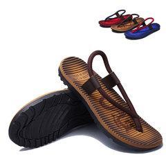 Men The New Beach shoes Flip-flops One Piece Leisure Sandals Brown 39