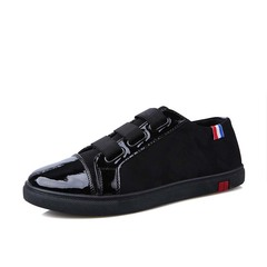 Men Leisure One foot Canvas shoes Fashion Sneakers Sports shoes Bright black 39