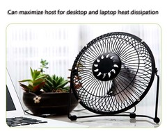 Office furniture, wrought iron USB USB quiet small fan Small size    Color random