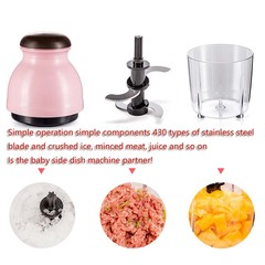 Home cooking machine Baby baby stirring assist food machine Fruit juice soymilk mince, fruit juicer pink