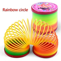 Rainbow circle of small toys Creative classic spring coil