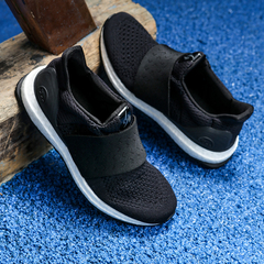 Fast Sport Women's Elastic Running Sports Shoes One Woven Design Big Bang Soles Black US5.5