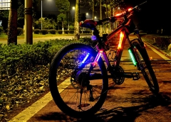 Practical Bicycle Cycling LED Light Caution / Safe Tail Lamp for Night Riding Outdoor Camping Red 34.6*10*4.5 CM