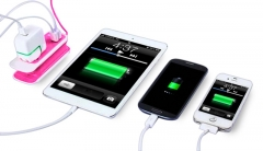 Outdoor Indoor Charging Station with 2 Port USB Charger US Plug Power Socket 1.5m Power Cable Rose One size