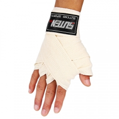 1 Pair Width 5cm Length 2.5M Cotton Boxing Handwrap Sanda Fighting Bandage White One size