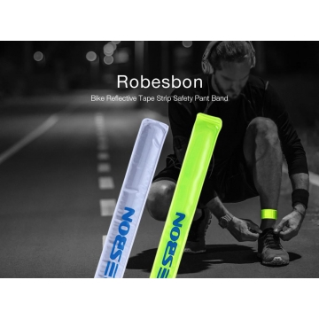 Outdoor Running Bicycle Reflective Tape Bind Pant Leg Band Night Warning Strap Silver One size