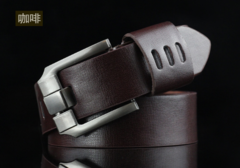 High quality men's genuine leather belt belts men luxury strap male belts for men fashion pin buckle coffee one size